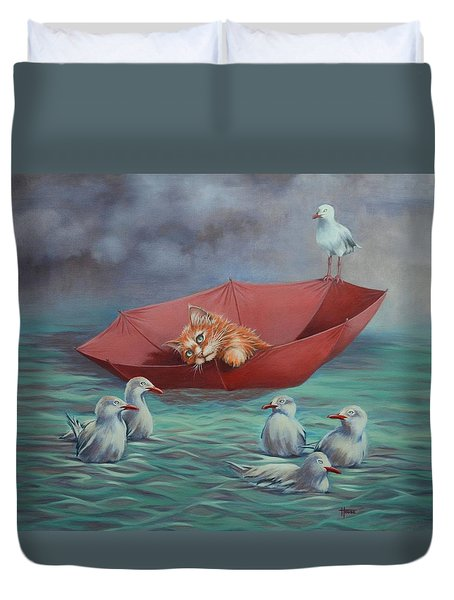 All At Sea Duvet Cover by Cynthia House