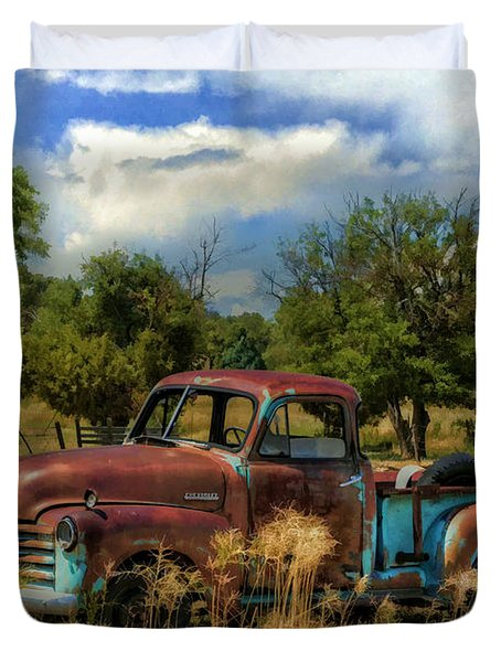 All By Myself Duvet Cover by Ken Smith