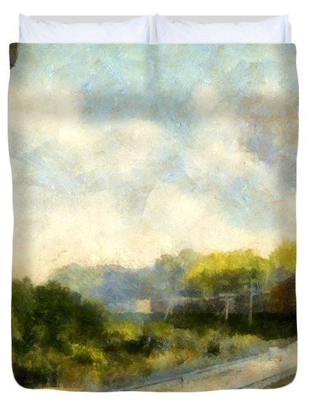 All Clear On The Pere Marquette Railway  Duvet Cover by Michelle Calkins