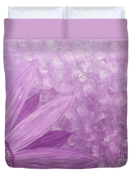 All Purple Flower Duvet Cover