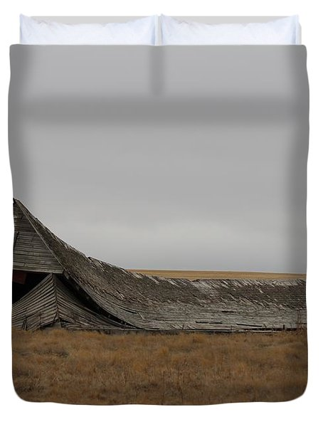 Duvet Cover featuring the photograph All That Remains by Ann E Robson