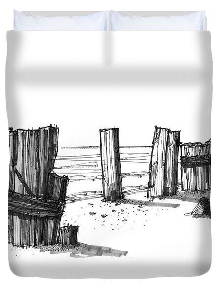 All That Remains Ocracoke 1970s Duvet Cover