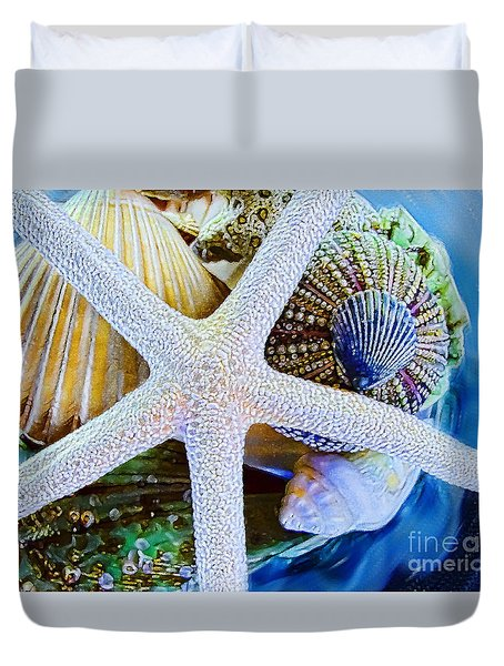 All The Colors Of The Sea Duvet Cover by Colleen Kammerer