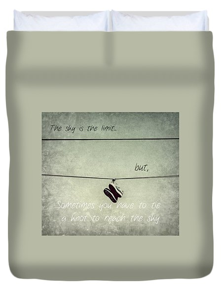 All Tied Up Inspirational Duvet Cover