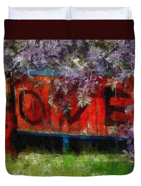 All You Need Is... Duvet Cover by RC deWinter