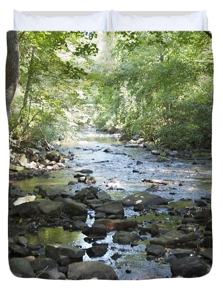 Duvet Cover featuring the photograph Allen Creek by William Norton