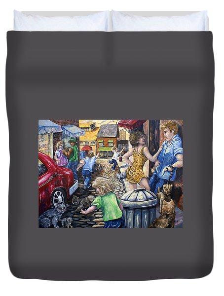 Alley Catz Duvet Cover by Gail Butler