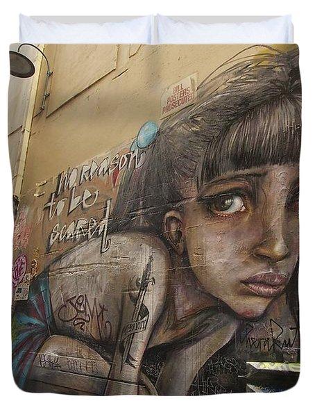 Alley Graffiti #2 Duvet Cover by Stuart Litoff