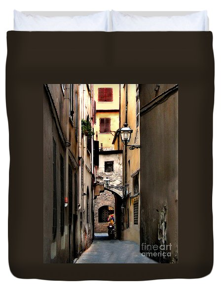 Alley In Florence 1 Duvet Cover
