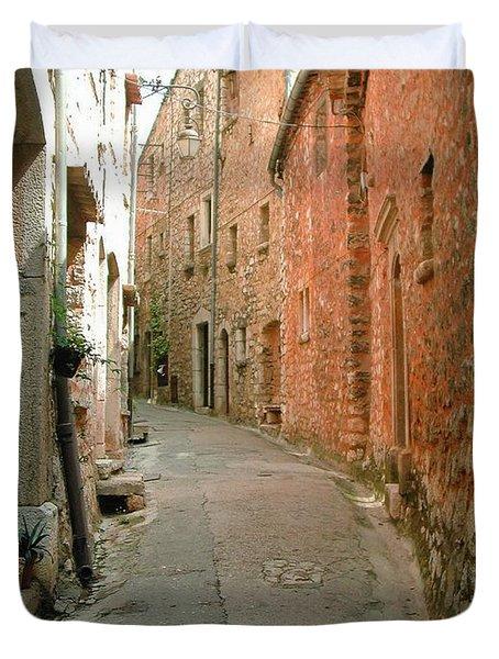 Alley In Tourrette-sur-loup Duvet Cover