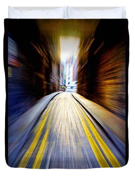 Alleyway With Motion Duvet Cover by Craig B