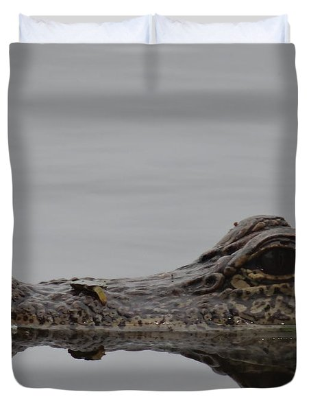 Alligator Eyes Duvet Cover by Dan Sproul