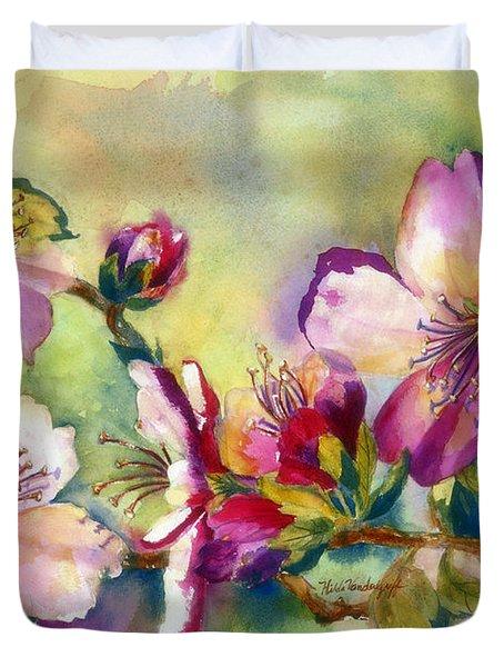 Almond Blossoms Duvet Cover
