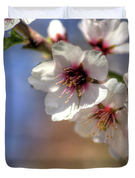 Duvet Cover featuring the photograph Almond Blossoms by Jim and Emily Bush