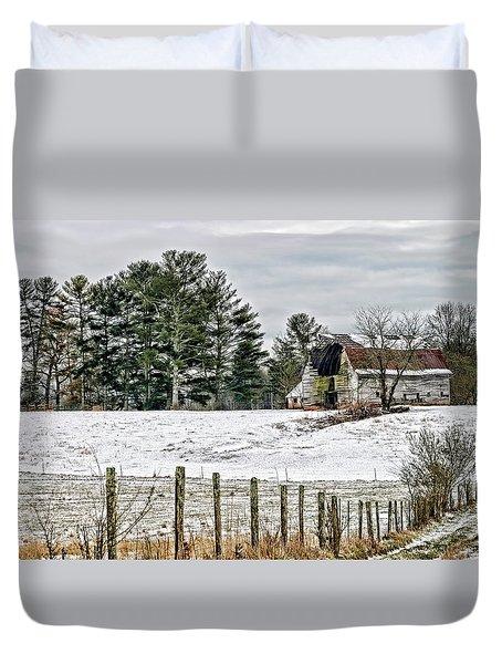Almost Gone- Old Barn Duvet Cover