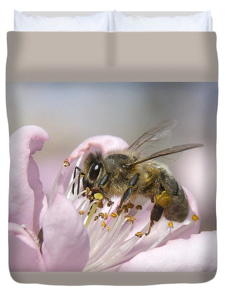 Duvet Cover featuring the photograph Almost Spring 01 by Kevin Chippindall