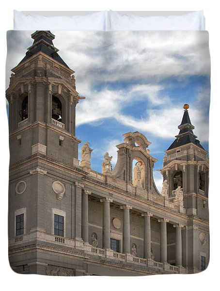 Almudena Cathedral Duvet Cover by Joan Carroll