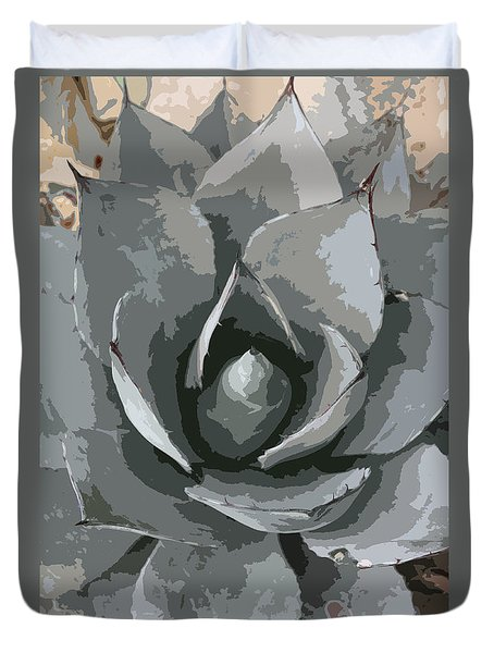 Aloe Vera Abstract Duvet Cover by Christiane Schulze Art And Photography