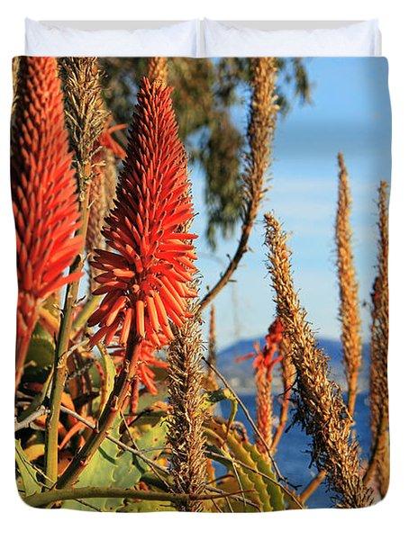Aloe Vera Bloom Duvet Cover
