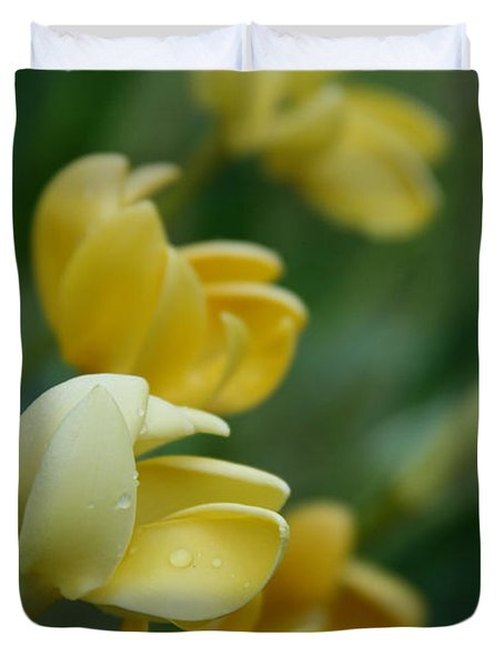 Aloha He Pua Lahaole Kula Gardenia Grandiflora Duvet Cover by Sharon Mau