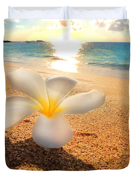 Duvet Cover featuring the photograph Aloha Paradise by Kristine Merc