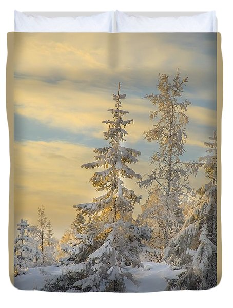 Duvet Cover featuring the photograph Alone But Strong by Rose-Maries Pictures
