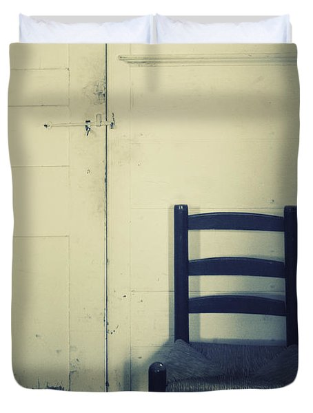 Alone In A Room Duvet Cover by Margie Hurwich