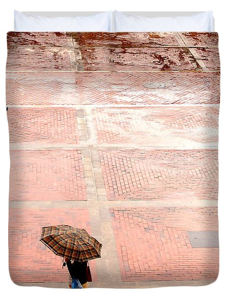 Alone In The Rain Duvet Cover by Michal Bednarek