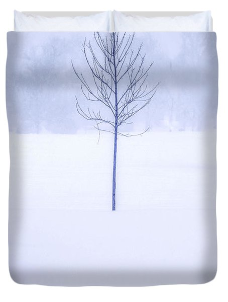 Alone In The Snow Duvet Cover