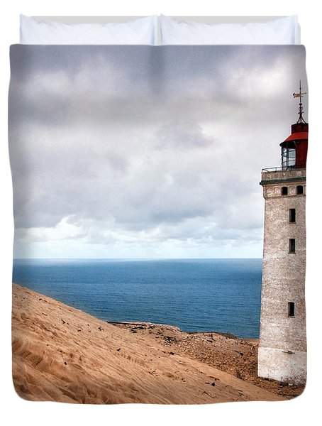 Lighthouse On The Sand Hils Duvet Cover by Mike Santis