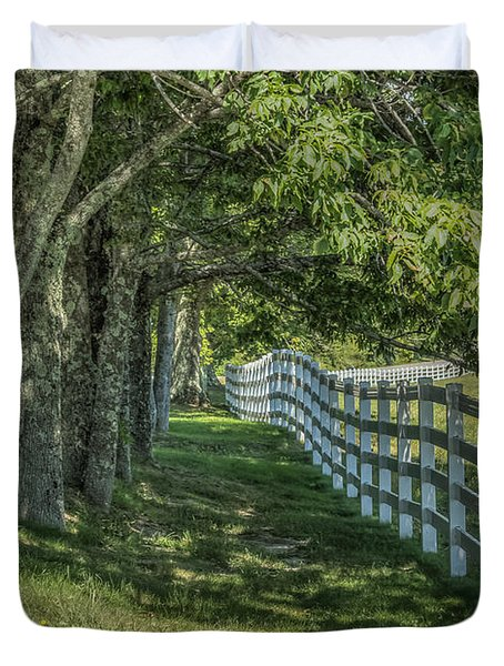 Duvet Cover featuring the photograph Along A Country Road by Jane Luxton