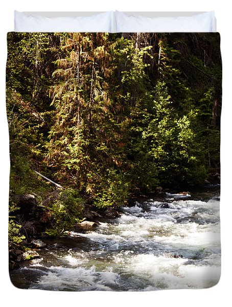 Along American River Duvet Cover