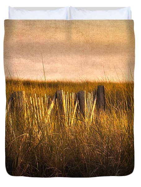 Along The Fence Duvet Cover by Bill Wakeley