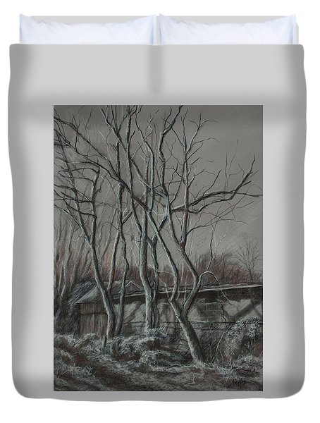 Along The Greenway 2 Duvet Cover by Janet Felts