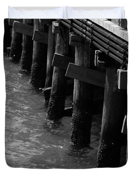 Along The Pier Duvet Cover
