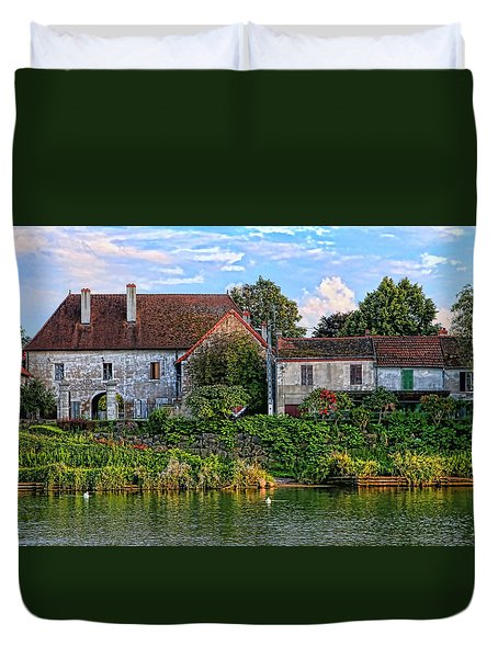 Along The River Somme Duvet Cover