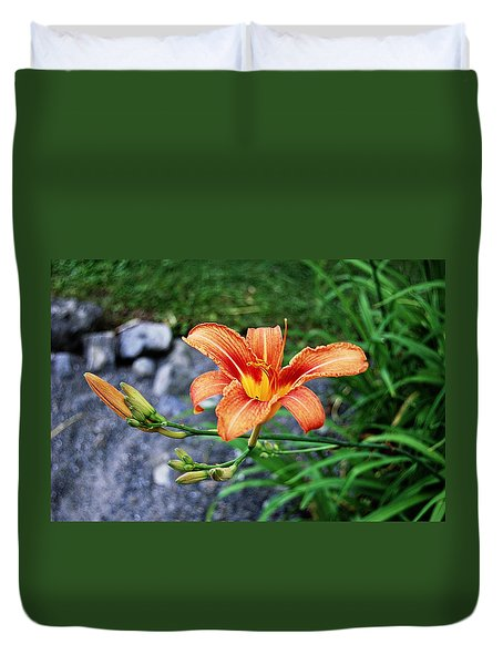 Along The Rocks Duvet Cover