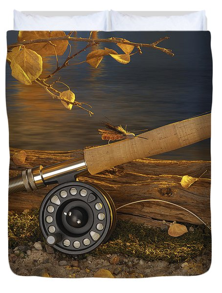 Along The Stream Duvet Cover by Jerry McElroy