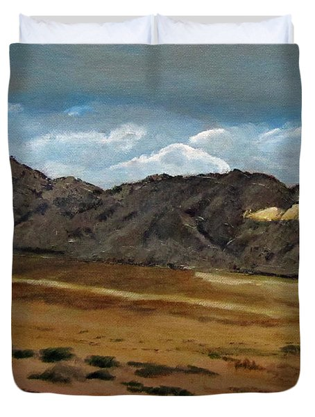 Duvet Cover featuring the painting Along The Way To Eilat by Linda Feinberg