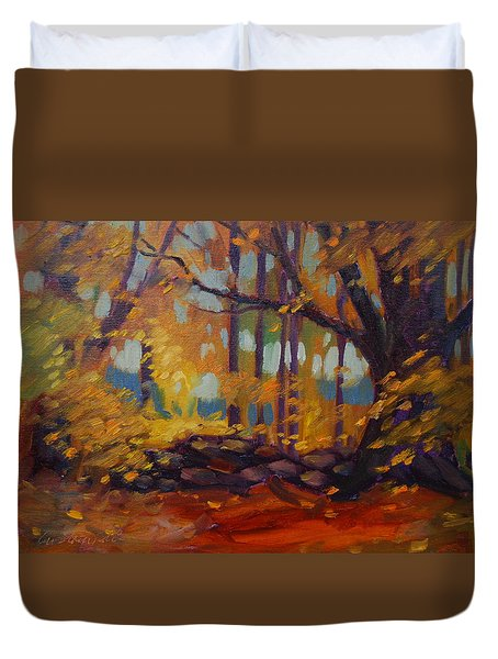 Along Windsor Road  Duvet Cover
