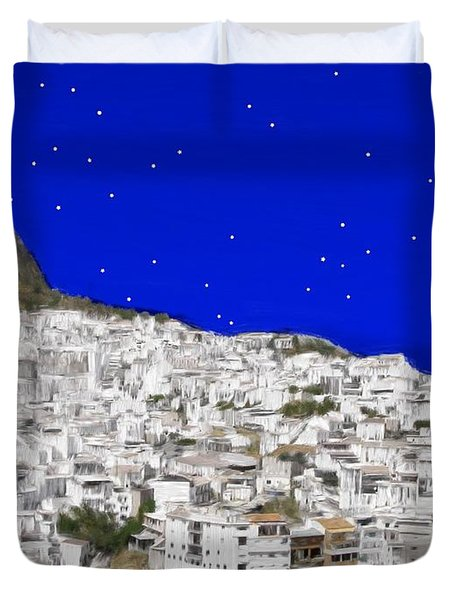 Alora Malaga Spain At Twilight Duvet Cover by Bruce Nutting