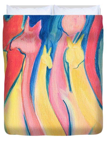 Alpaca Flames Duvet Cover