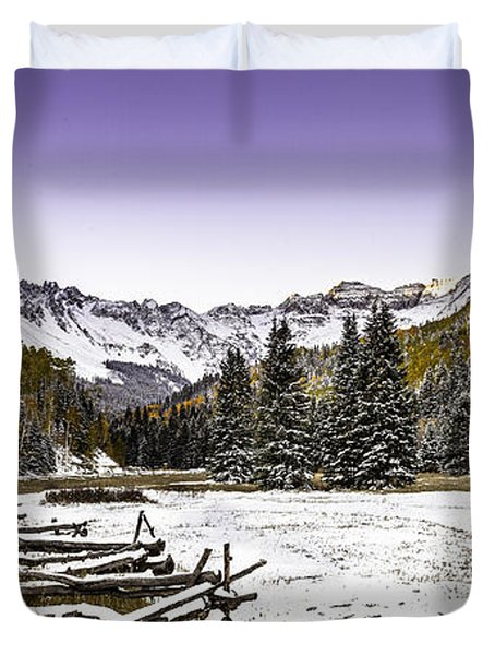 Duvet Cover featuring the photograph Alpen Glow by Steven Reed