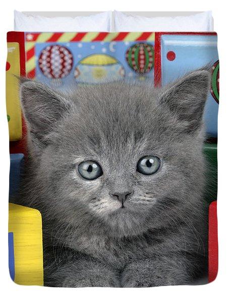 Alphabet Cat Ck415 Duvet Cover by Greg Cuddiford
