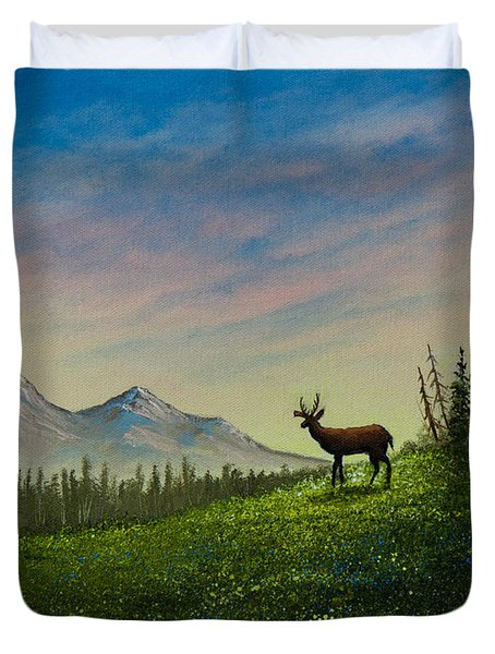 Alpine Beauty Duvet Cover by C Steele