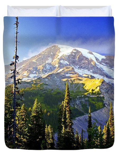 Alpine Glow 2 Duvet Cover by Marty Koch