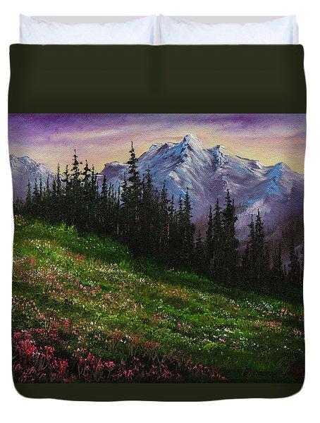 Alpine Meadow Duvet Cover by C Steele
