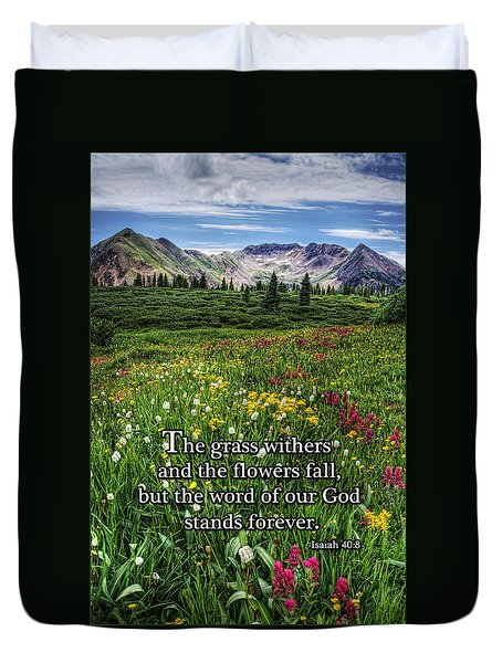 Alpine Meadow Duvet Cover by Priscilla Burgers