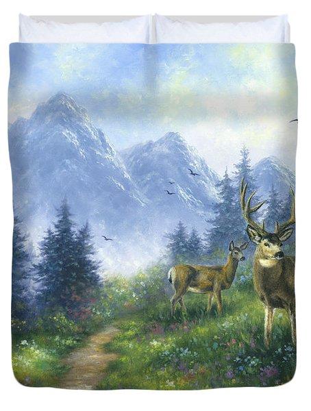 Alpine View Deer Duvet Cover
