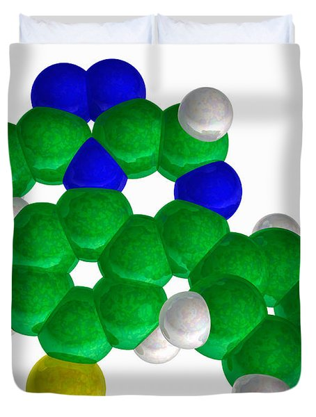Alprazolam, Molecular Model Duvet Cover